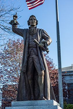 Statue of James Otis Jr in Barnstable