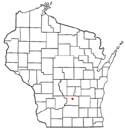 Location of Pardeeville, Wisconsin