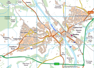 Bewdley and surroundings OS Vector Map District raster