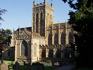 Great Malvern Priory - Cemetery View