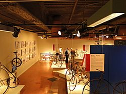 Historic bicycles at the U.S. Cycling Hall of Fame