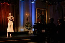 LeAnn Rimes performs in the East Room of the White House