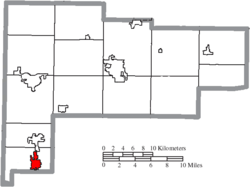 Location of Minster in Auglaize County