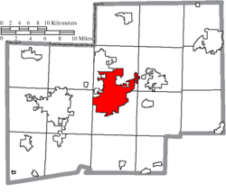 Location of Canton in Stark County