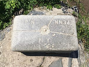 Tri-States Boundary Marker top view