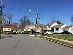 Homes along Peck Avenue in the Fleetwood Village section of Ewing, New Jersey