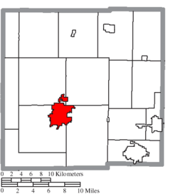 Location of Bucyrus in Crawford County