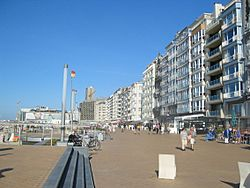 Promenade at Ostend seaside