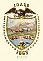 Idaho territory coat of arms (illustrated, 1876)