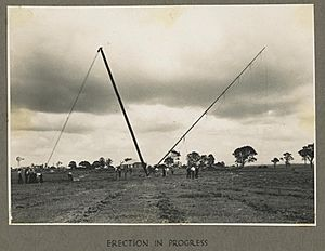 StateLibQld 1 259711 Erection of the Bald Hills radio transmitter, 1942
