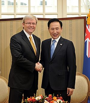 Summit talk with Australian Prime Minister Kevin Rudd