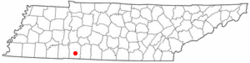 Location of Collinwood, Tennessee
