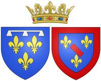 Arms of Louise Henriette de Bourbon as Duchess of Orléans