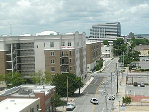 Downtown Wilmington to the north