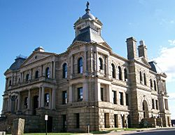 Harrison County Courthouse, built in 1894, is listed on the National Register of Historic Places
