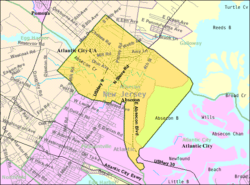 Census Bureau map of Absecon, New Jersey