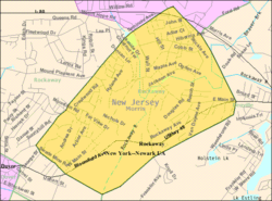 Census Bureau map of Rockaway, New Jersey
