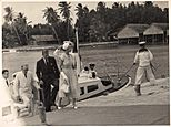 H.M. Queen Elizabeth and Prince Philip at the Cocos Islands, April 1954