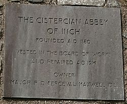 Inch Abbey Plaque