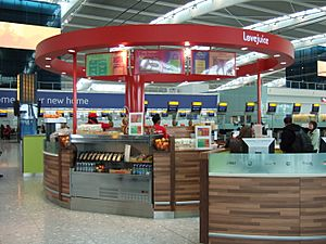 Lovejuice juice bar at Heathrow Terminal 5 in 2008