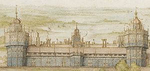 Nonsuch Palace watercolour detail