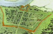 Plan Fort Frederica
