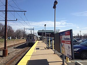 Warminster PA SEPTA station April 2015