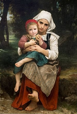 William-Adolphe Bouguereau (1825-1905) - Breton Brother and Sister (1871)
