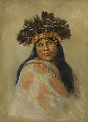 A Pomo Dancer (Kal-si-wa, Rosa Peters) by Grace Hudson