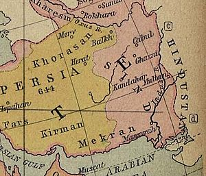 Ancient Khorasan highlighted