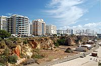 Apartment buildings at Praia da Rocha, Portimão