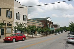 The East Main Street Historic District is listed on the National Register of Historic Places