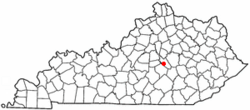 Location of Lancaster, Kentucky