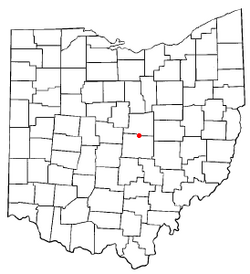Location of Utica, Ohio