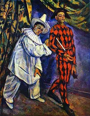 Paul Cézanne- Pierrot and Harlequin