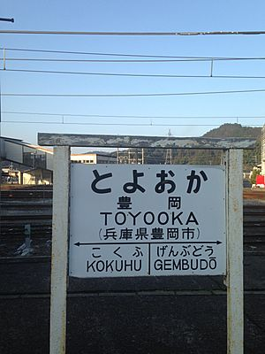 Running in board of Toyooka Station