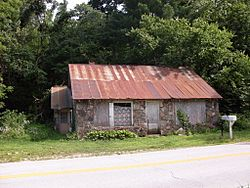 Old Store building on the south side of Route 14 at Tigris