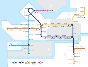 Vancouver Transit Network Map