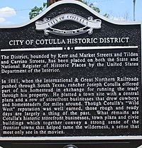 Cotulla, TX Historic District sign IMG 7715 1 1 1