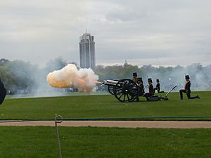 Hyde Park gun salute 24 April 2018 03