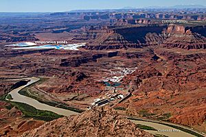 Potash mine Moab NASA