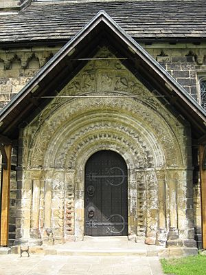 St John church Adel, Doorway