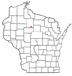 Location of Hill, Wisconsin