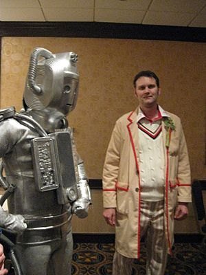A Cyberman and the Fifth Doctor
