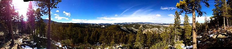 Eldora, CO. Panoramic view.