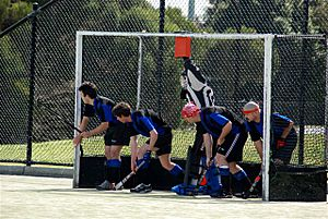 Fieldhockey shortcorner defense
