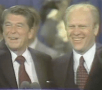 Gerald Ford and Ronald Reagan at 1976 RNC (02)
