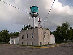 Lehr City Hall and Water Tower
