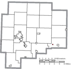 Location of Salesville in Guernsey County
