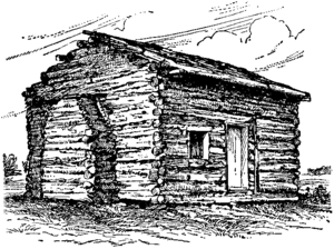 NSRW Lincoln Abraham - log cabin